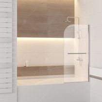 Шторка на ванну RGW SC-06, профиль хром, стекло прозрачное 80x150 (03110608-11)