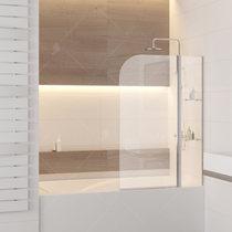 Шторка на ванну RGW SC-07, профиль хром, стекло прозрачное 100x150 (03110710-11)