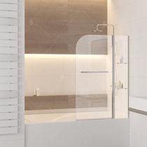 Шторка на ванну RGW SC-08, профиль хром, стекло прозрачное 100x150 (03110810-11)