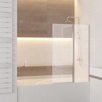 Шторка на ванну RGW SC-11, профиль хром, стекло прозрачное 100x140 (03111110-11)