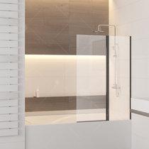 Шторка на ванну RGW SC-11B, цвет профиля черный, стекло прозрачное 100x140 (03111110-14)