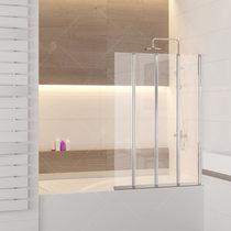 Шторка на ванну RGW SC-21, профиль хром, стекло прозрачное 120x150 (03112112-11)