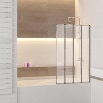 Шторка на ванну RGW SC-23, профиль хром, стекло прозрачное 80x150 (03112308-11)