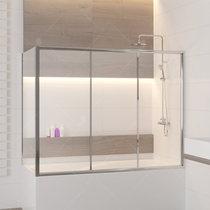 Шторка на ванну RGW SC-81, профиль хром, стекло прозрачное 70x150 (04118157-11)