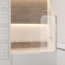 Шторка на ванну RGW SC-01, профиль хром, стекло прозрачное 90x150 (03110109-11)