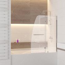 Шторка на ванну RGW SC-13, профиль хром, стекло прозрачное 110x150 (01111311-11)