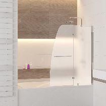 Шторка на ванну RGW SC-13, профиль хром, цвет стекла матовое 90x150 (01111309-21)