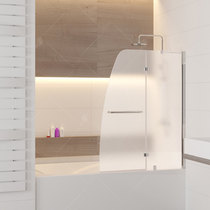 Шторка на ванну RGW SC-13, профиль хром, цвет стекла матовое 110x150 (01111311-21)