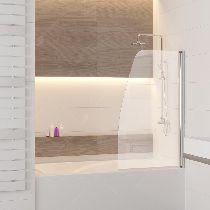 Шторка на ванну RGW SC-36, профиль хром, стекло прозрачное 90x150 (01113609-11)