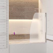 Шторка на ванну RGW SC-36, профиль хром, цвет стекла матовое 90x150 (01113609-21)