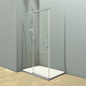 Душевой угол Veconi RV-071 140x90x195 стекло прозрачное профиль чёрный (RV071-14090PR-01-19C4)