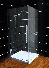 Душевой уголок Wasserfalle F-2005 90x90x190 профиль хром стекло прозрачное