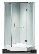 Душевой уголок Wasserfalle F-508 90x90x200 профиль хром стекло прозрачное