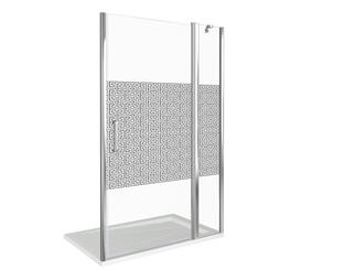 Душевая дверь Good Door Fantasy WTW-100-F-CH, цвет профиля хром, цвет стекла прозрачное, 140x185