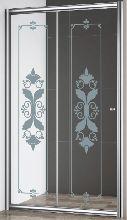 Душевая дверь Cezares GIUBILEO-BF-1-120-CP-Cr стекло прозрачное с узором, профиль хром