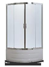 Душевой уголок Aquamarine HX-514 80x80x195 профиль хром стекло матовое