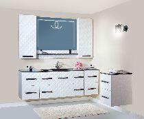 Комплект мебели Бриклаер Жаклин 110 с черной раковиной