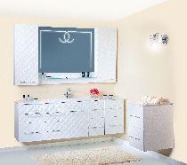 Комплект мебели Бриклаер Жаклин 110 Белый глянец