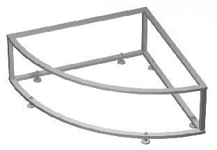 Каркас металлический VAGNERPLAST для угловых ванн