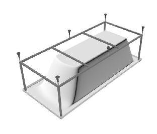 Каркас для ванны Relisan до 170 см