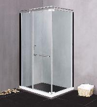 Душевой уголок Lanmeng LM 535 100x80x190 профиль хром стекло прозрачное