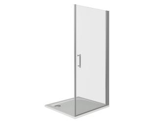 Душевая дверь Good Door Mokka DR-90-C-WE, цвет профиля хром, цвет стекла прозрачное, 90x185