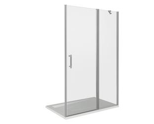 Душевая дверь Good Door Mokka WTW-110-C-WE, цвет профиля хром, цвет стекла прозрачное, 110x185