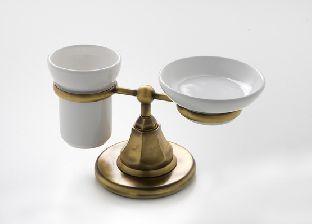 Держатель для мыльницы и стакана Nicolazzi Teide 1494CR05