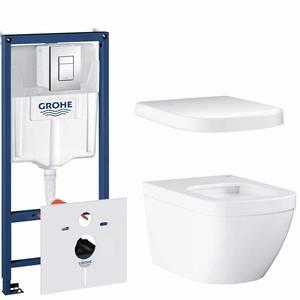 Комплект Grohe Euro Ceramic NW0016-1 подвесной унитаз + инсталляция + сиденье