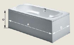 Панель торцевая для прямоугольных ванн Riho 70, 75, 80, 90 см