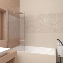 Шторка для ванны Veconi PL80-70-01-19C1 70см стекло прозрачное