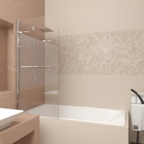 Шторка для ванны Veconi PL80-80-01-19C1 80см стекло прозрачное