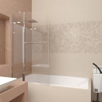 Шторка для ванны Veconi PL81-80-01-19C1 80см стекло прозрачное