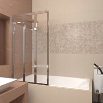 Шторка на ванну Veconi PL73L 90x150 стекло прозрачное
