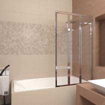 Шторка на ванну Veconi PL73R 90x150 стекло прозрачное