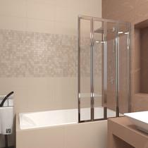 Шторка на ванну Veconi PL74R 90x150 стекло прозрачное