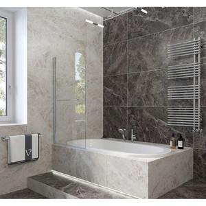 Шторка на ванну Veconi PL-79 80x150 стекло прозрачное