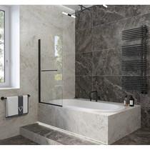 Шторка на ванну Veconi PL-79B 70x150 стекло прозрачное