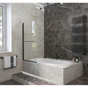 Шторка на ванну Veconi PL-79B 90x150 стекло прозрачное