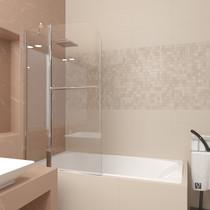 Шторка на ванну Veconi PL81 90x150 стекло прозрачное