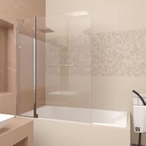 Шторка на ванну Veconi PL82 120x150 стекло прозрачное