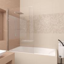 Шторка на ванну Veconi PL83 100x150 стекло прозрачное