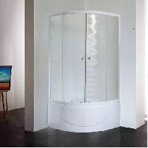 Душевой уголок Royal Bath RB 90BK-C 90x90x200 профиль белый стекло матовое