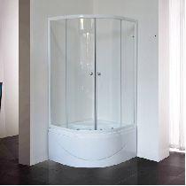 Душевой уголок Royal Bath RB 90BK-T 90x90x200 профиль белый стекло прозрачное