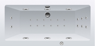 Гидромассажная система RELAX (форсунки FLAT хром - плоский металл)