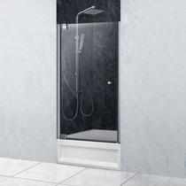 Душевая дверь Domustar EF-07, цвет профиля хром, цвет стекла тонированное графит, 70x150