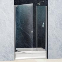 Душевая дверь Domustar EF-07-2, цвет профиля хром, цвет стекла прозрачное, 120x150