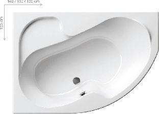 Акриловая ванна Ravak Rosa 160 x 105