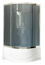 Душевой уголок Royal Bath RB100BK-G