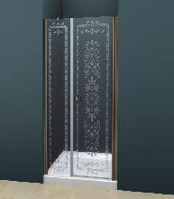 Душевая дверь Cezares ROYAL PALACE-B-11-30+70-C-Br стекло прозрачное с узором, профиль бронза